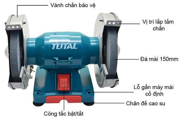 Cấu tạo máy mài hai đá Total TBG15015