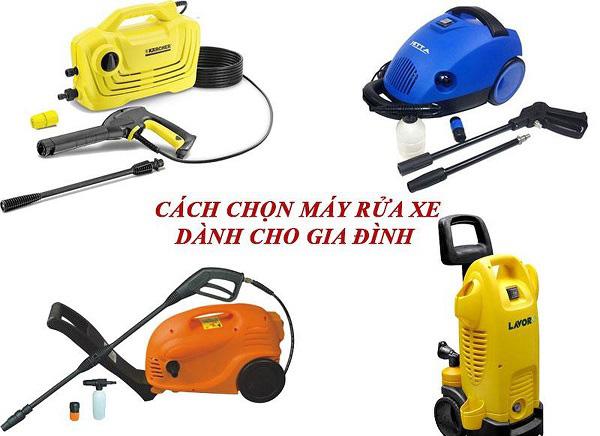 Cách chọn mua máy rửa xe mini dành cho gia đình dựa vào công suất của sản phẩm
