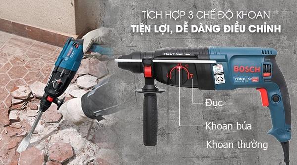 Chế độ khoan búa chủ yếu trên dòng máy khoan bê tông