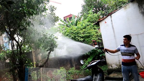 Máy rửa xe và tưới cây phù hợp với gia đình