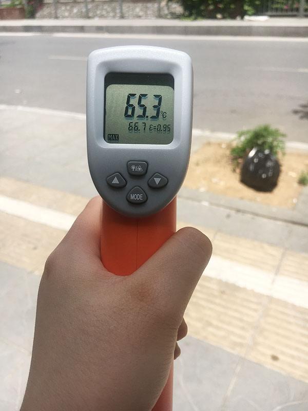Nhiệt độ thu được khi đo bề mặt nhựa bê tông