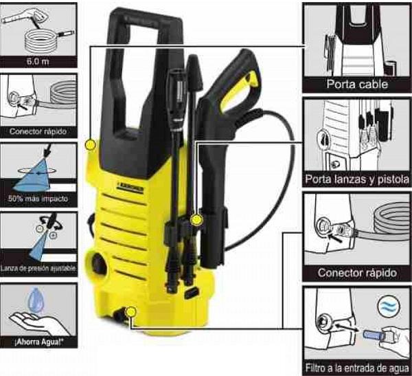 Máy rửa xe hút nước từ xô chậu hoặc kết nối trực tiếp với nguồn nước