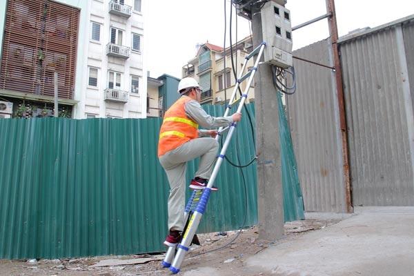 thang nhôm rút tốt cho ngành điện lực