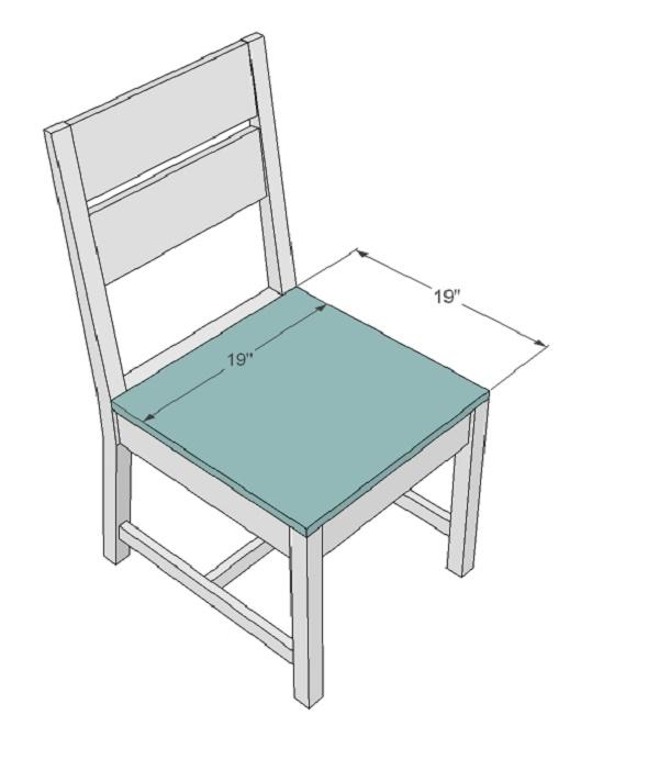 Đặt tấm mặt ghế gỗ