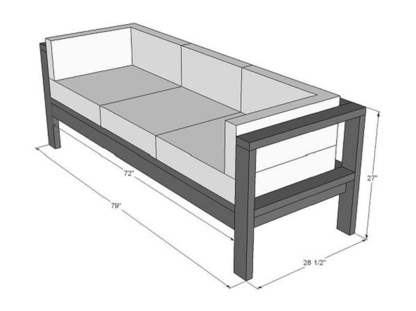 Lên bản vẽ thiết kế sofa gỗ