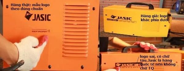 Logo Jasic được in sắc nét nằm ở nhiều vị trí khác nhau trên máy