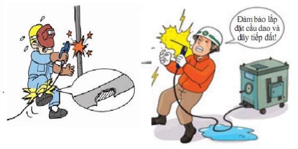 Máy hàn có thể gây giật khi sử dụng không đúng cách