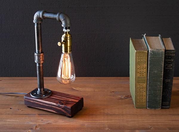 Làm đèn trang trí bằng ống nước
