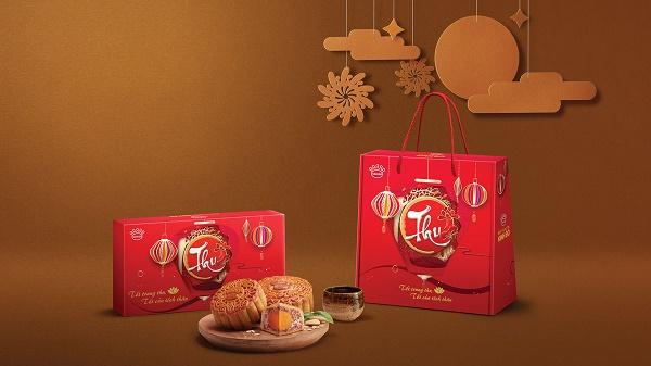 Hộp bánh Trung thu Kinh Đô đơn giản truyền thống