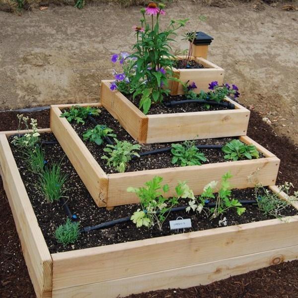 Hộp gỗ trồng cây có độ bền cao, dễ làm