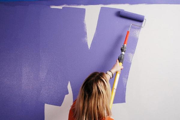 Thực hiện sơn theo hình chữ V hoặc W