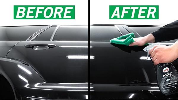 Đánh bóng xe ô tô lấy lại độ sáng bóng