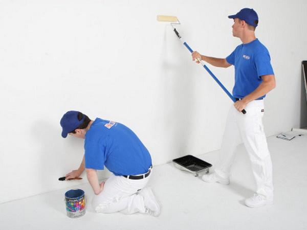 Quá trình thi công, sơn tường không đúng kỹ thuật