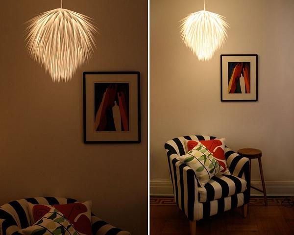 Đèn chùm làm từ mảnh giấy