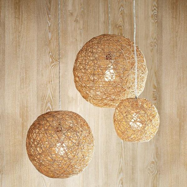 Mẫu đèn chùm đẹp đơn giản cho căn phòng mộc mạc