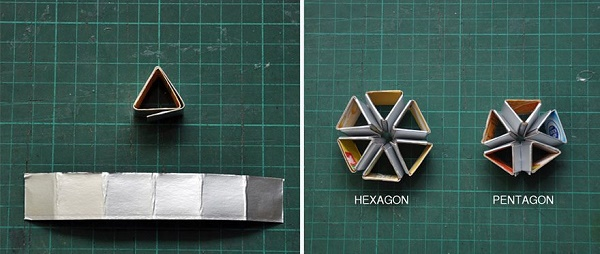 Cách gấp đèn chùm bằng giấy cứng