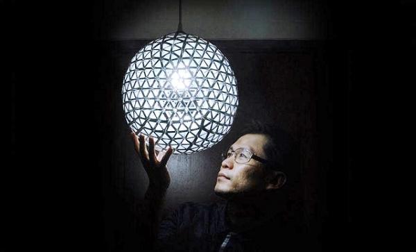 Đèn chùm quả cầu với nhiều khe phát sáng
