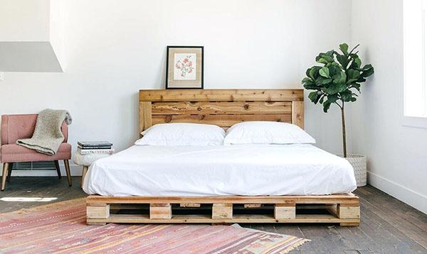 Pallet được dùng làm giường