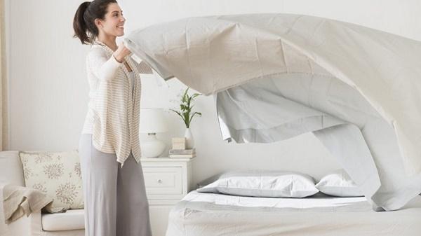 Bọc lại giường đệm và trải ga giường