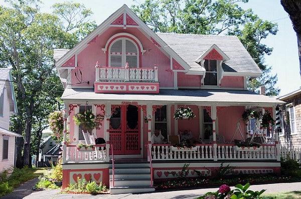 Ngôi nhà màu hồng vừa nhẹ nhàng vừa nổi bật
