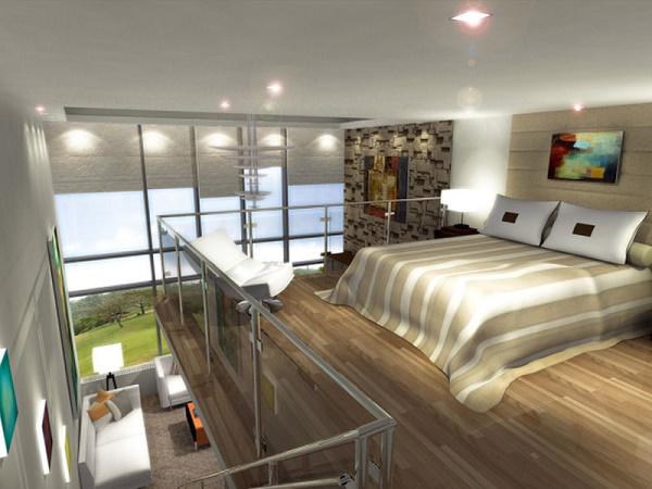 Mẫu phòng ngủ trên gác lửng đơn giản gọn gàng nhờ tối giản đồ nội thất