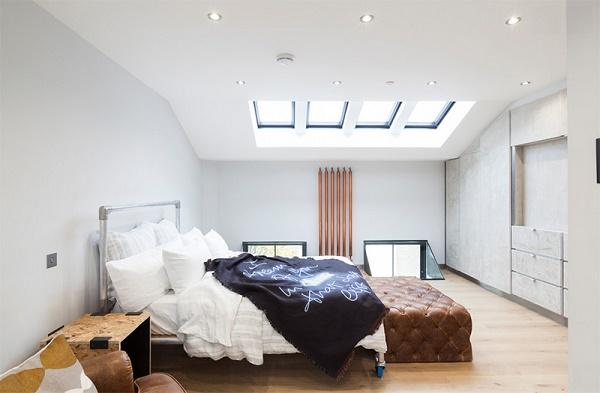 Mẫu thiết kế phòng ngủ nhỏ đơn giản và trang trọng với gam màu trắng thanh lịch