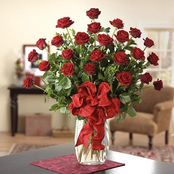 Cắm hoa hồng ngày tết