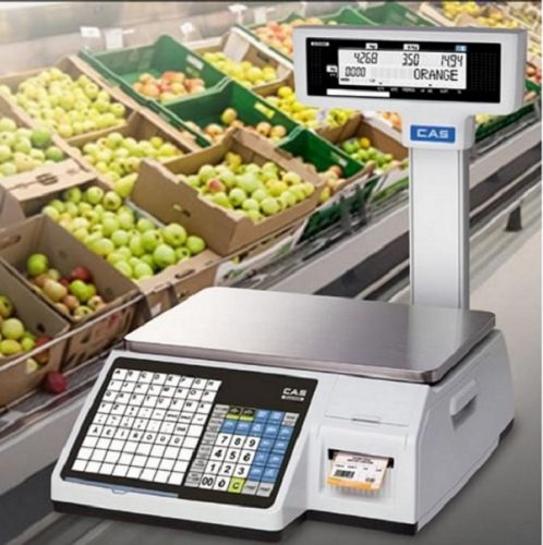 Cân điện tử in tem, mã vạch được sử dụng phổ biến tại siêu thị lớn