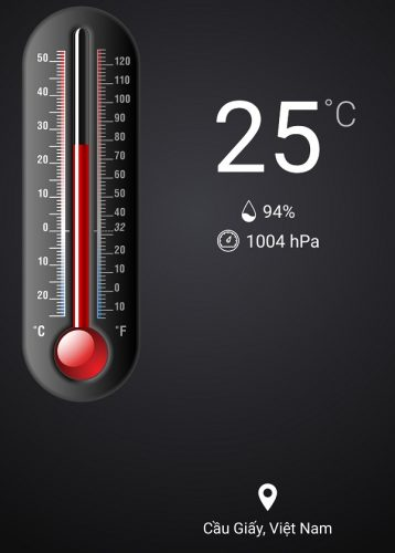 cách đo độ ẩm không khí bằng điện thoại