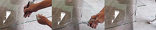 Kỹ thuật cắt kính hình tròn