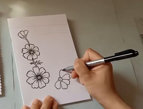 Vẽ họa tiết trên thiệp