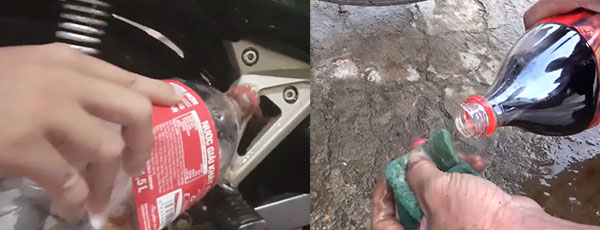 Rửa xe bằng cocacola