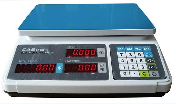 Cân điện tử tính giá CAS PR-P 3Kg chất lượng dễ sử dụng