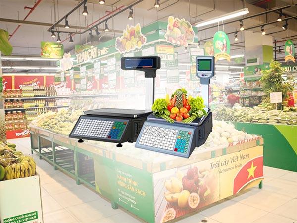 Cân điện tử mini có tình tiền được dùng siêu thị