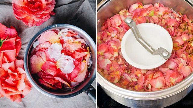 Cách làm nước hoa hồng từ hoa hồng tươi bằng phương pháp chưng cất