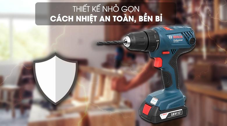 Thiết kế máy khoan pin Bosch GSR 180 LI (18V)