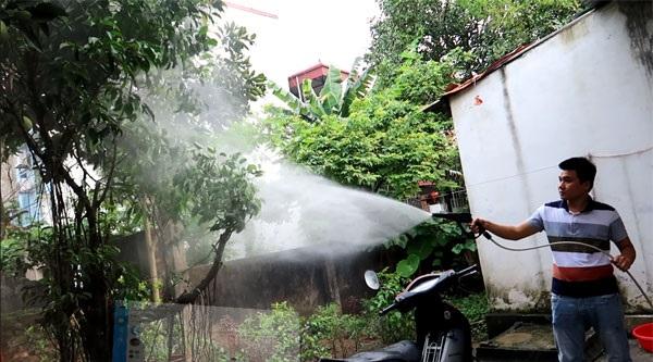Có thể dùng máy rửa xe Osaka để tưới cây