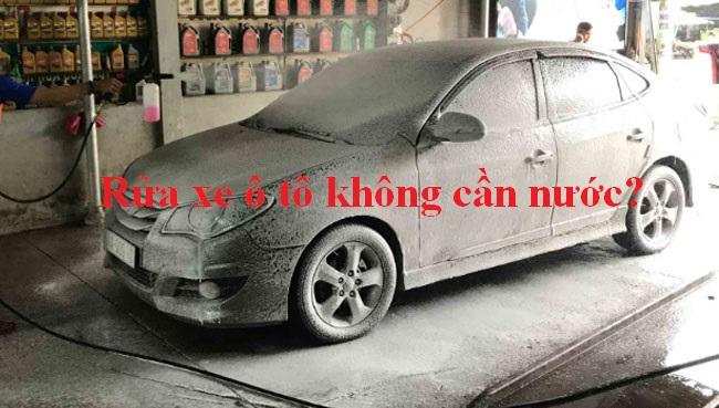 Công nghệ rửa xe ô tô không cần nước là gì?