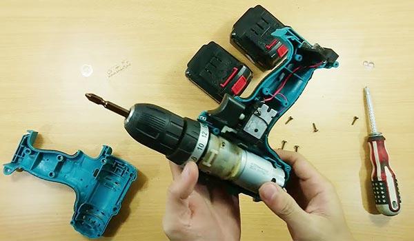 Cách sửa máy khoan pin Makita hết than