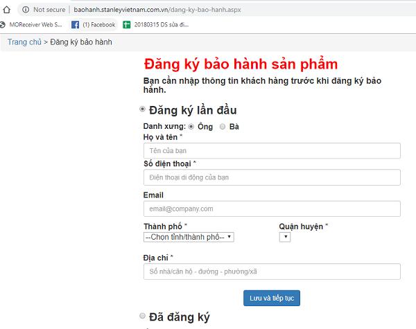 Hướng dẫn đăng ký online trên web