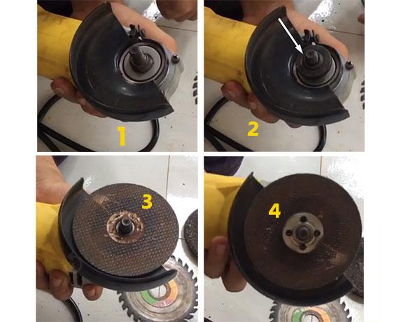 cách thay máy cắt sắt cầm tay