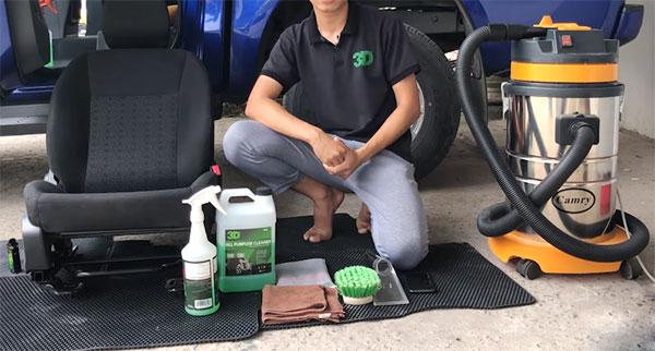 vệ sinh ghế nỉ ô tô