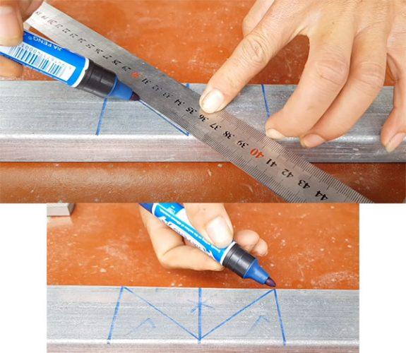 máy cắt góc sắt hộp