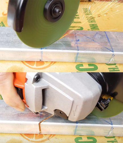 cách cắt góc sắt hộp
