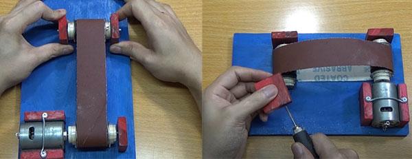 chuẩn bị cách làm chế máy mài dây đai