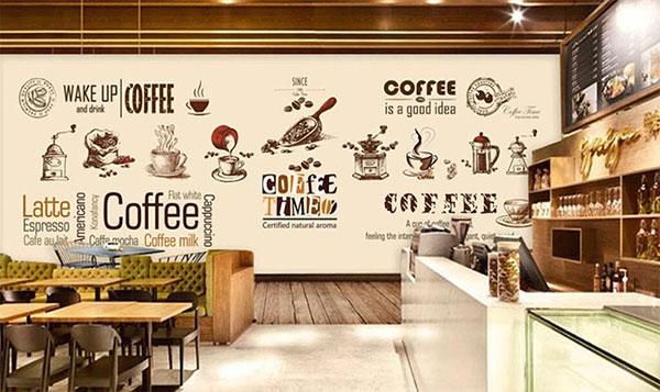 mẫu tranh vẽ quán cà phê