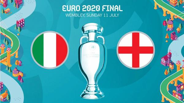 Lịch thi đấu chung kết Anh - Ý