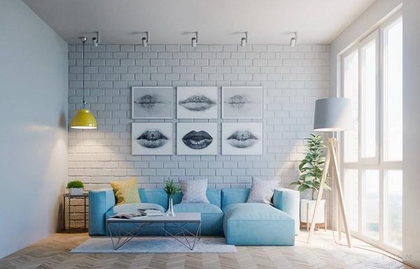 Chọn màu xanh dương khi trang trí nhà cửa
