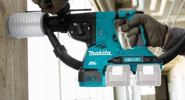 Makita DHR280PT2J là dòng máy khoan bê tông dùng pin 3 chức năng