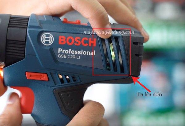 Máy khoan Bosch bị đánh lửa